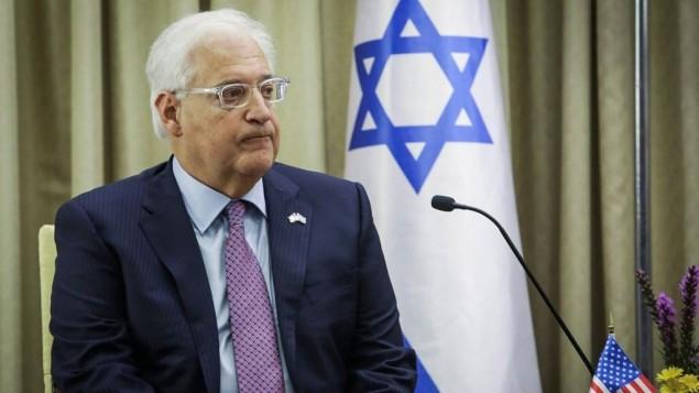 Ambassadeur américain:  « la solution à deux États a largement perdu son sens »