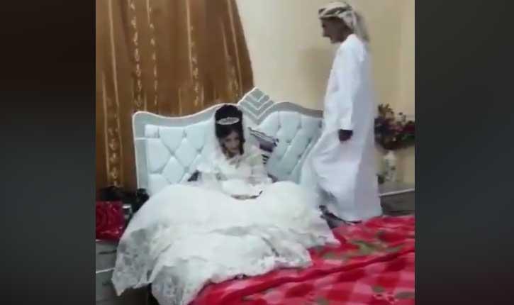 [video] Effrayant mariage forcé pédophile entre un vieillard de 80 ans et une fillette de 12 ans