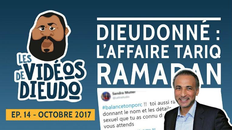 """L'antisémite Dieudonné soutient son «pote» islamiste Tariq Ramadan """"Aucune preuve, aucun élément à charge, si ce n'est le témoignage des prétendues victimes"""" (Vidéo)"""
