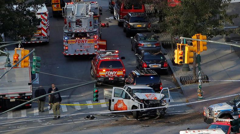 Premières images de l'attentat islamiste de New York qui a fait au moins huit morts (VIDEOS CHOC)