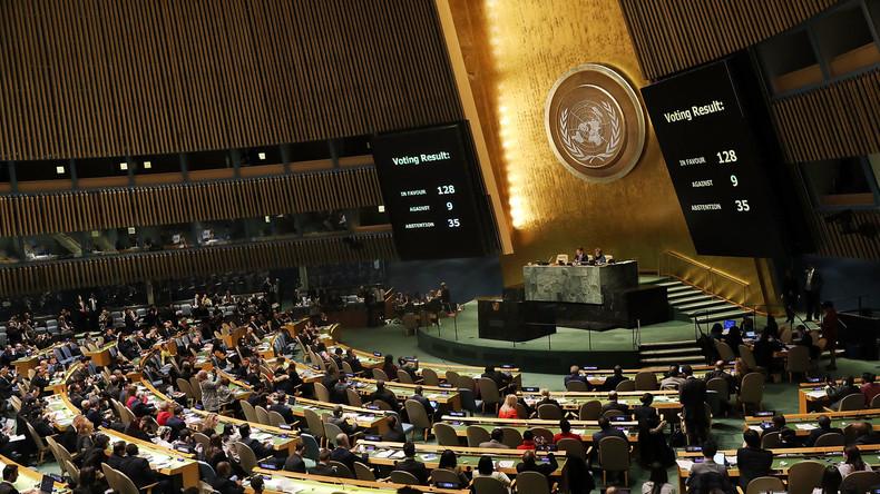 L'ONU aux mains de l'Islam politique: 128 pays soumis, dont la France, condamnent la décision américaine de reconnaître Jérusalem capitale d'Israël
