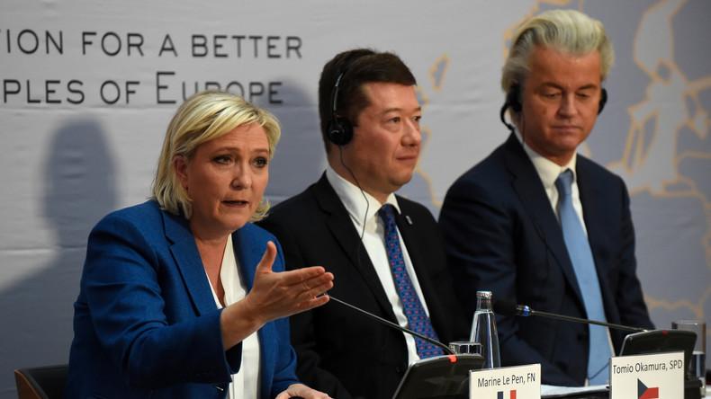 «L'UE est en train de tuer l'Europe»: Marine Le Pen rencontre ses alliés de l'AfD et du FPÖ à Prague
