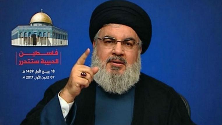 Le chef du Hezbollah, Hassan Nasrallah « c'est le début de la fin pour Israël. Mort à l'Amérique ! Mort à Israël ! »