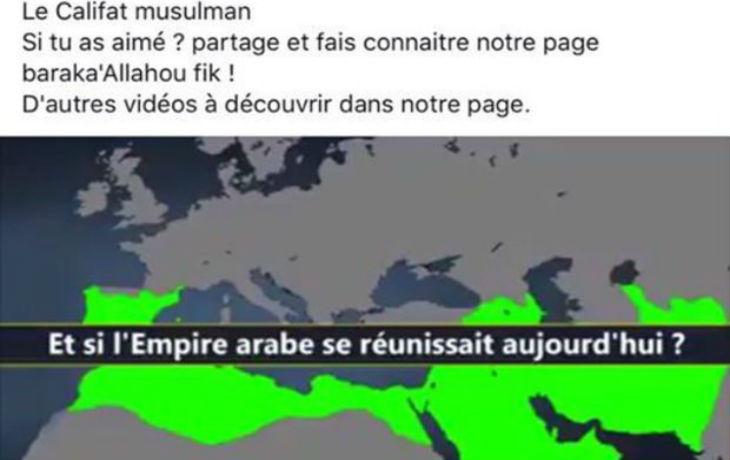 La Grande Mosquée de Pantin (93) fait l'apologie du Califat et y inclut l'Espagne