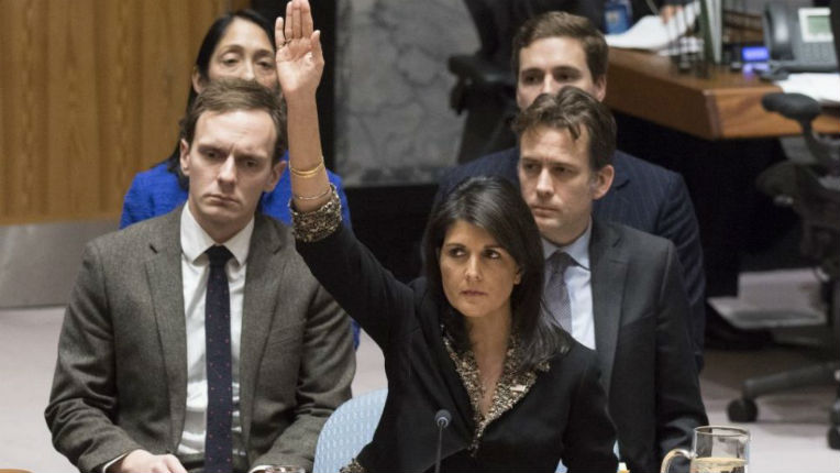 Jérusalem : Discours de Nikki Haley à la séance du Conseil de sécurité de l'ONU
