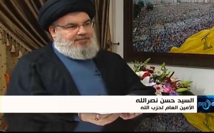 Le chef du Hezbollah Hassan Nasrallah «J'ai rencontré le Fatah pour discuter de l'Intifada, une guerre à grande échelle sera l'occasion de libérer Jérusalem»