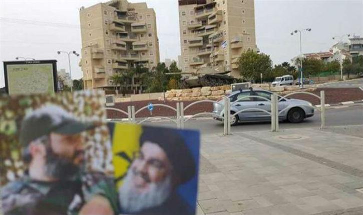 Un tweet montrant un sympathisant du Hezbollah à Tel-Aviv