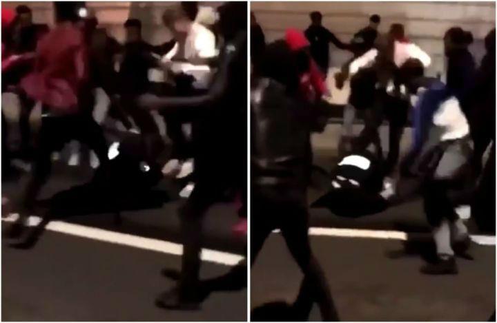 Champigny : La racaille tabasse un policier et une policière au sol (Vidéo)