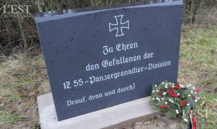 Moselle : une stèle en l'honneur de soldats nazis a été érigée dans le petit village deLengelsheim