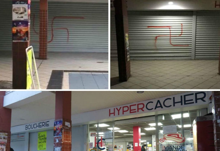 Créteil : des croix gammées taguées sur deux magasins casher