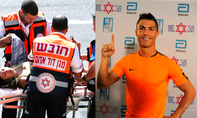 [Video] Christiano Ronaldo s'associe au Maguen David Adom, croix rouge israélienne