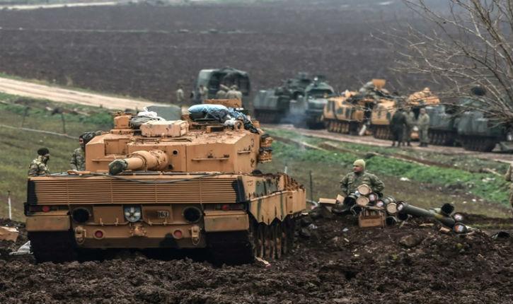 L'armée turque, membre de l'OTAN, utilise des chars allemands contre les Kurdes au nord de la Syrie