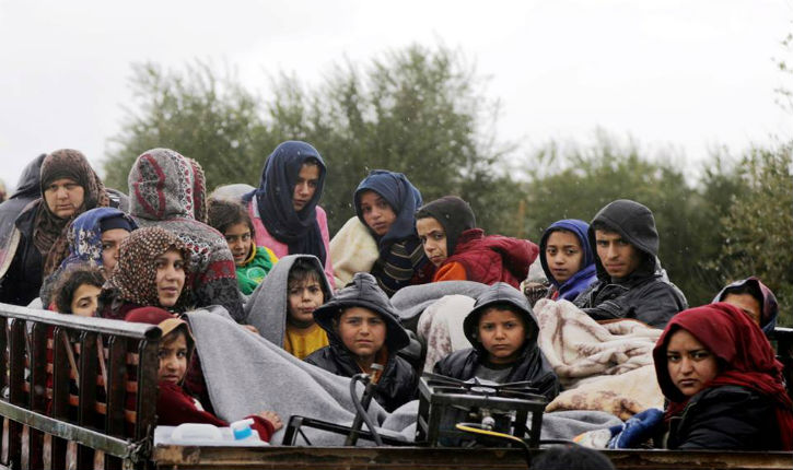 Face à la politique délibérée de terreur des turcs, plus de 225 000 civils kurdes ont quitté Afrin