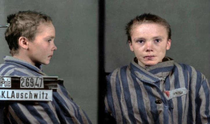 Les photos colorisées de Czesława Kwoka, jeune Polonaise battue et tuée à Auschwitz émeut le monde