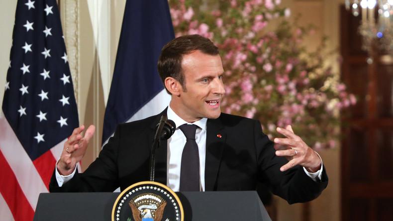 Selon Macron, les Etats-Unis ne devraient pas rester dans l'accord sur le nucléaire iranien