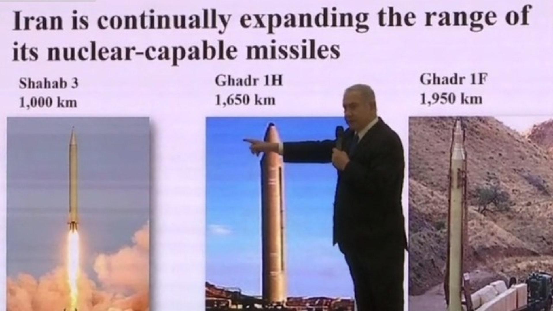 Conférence de presse de Netanyahu présentant des preuves de l'existence d'un programme nucléaire iranien clandestin (Vidéo)