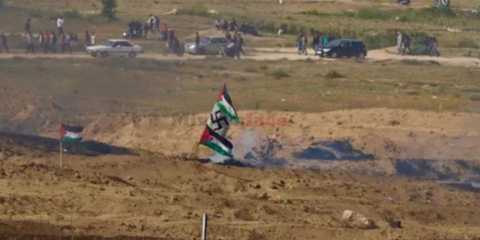 Gaza la nazie : Le message est clair, l'antisionisme est bien le cache-sexe de l'antisémitisme. La «cause palestinienne» se revendique héritière du nazisme