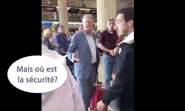 [Video] Pascal Boniface, l'agent qatari, chahuté à l'aéroport de Tel Aviv: «Mais où est la sécurité ?»