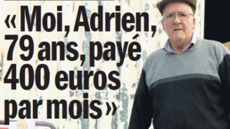 Tandis que nombre de retraités vivent avec 400€/mois, les migrants ont le gîte, le couvert, et 513€/mois
