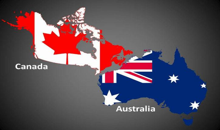 La réaction du Canada et l'Australie est autrement plus digne que celle des pays européens