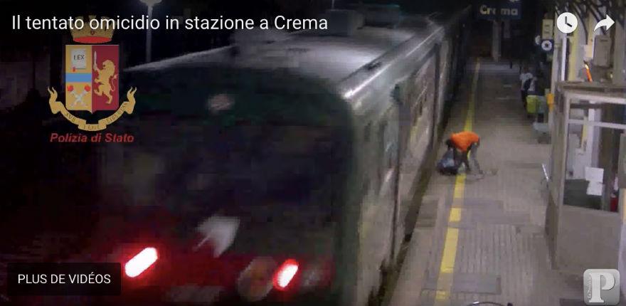 Crémone (Italie) : un migrant nigérian essaie de pousser quelqu'un sous le train (Vidéo)