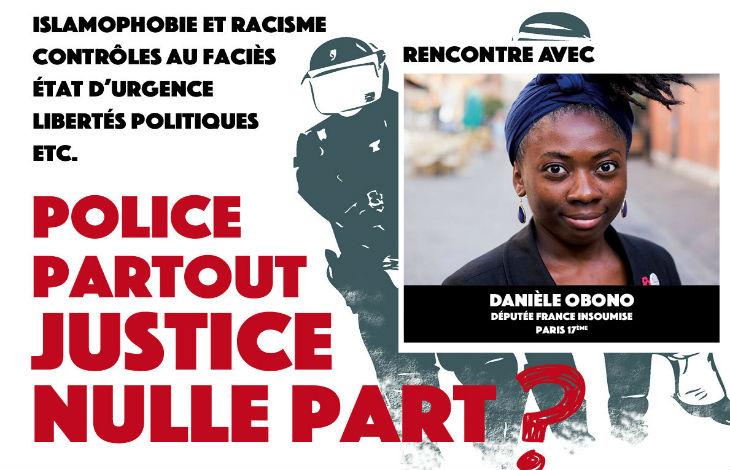 """Réunion """"police partout justice nulle part"""" : la stratégie islamo-gauchiste de la France Insoumise"""