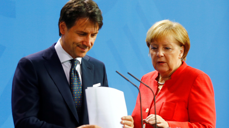 Giuseppe Conte prévient Angela Merkel «Sans solution sur la politique migratoire, c'est la fin de Schengen»… et la fin de Merkel
