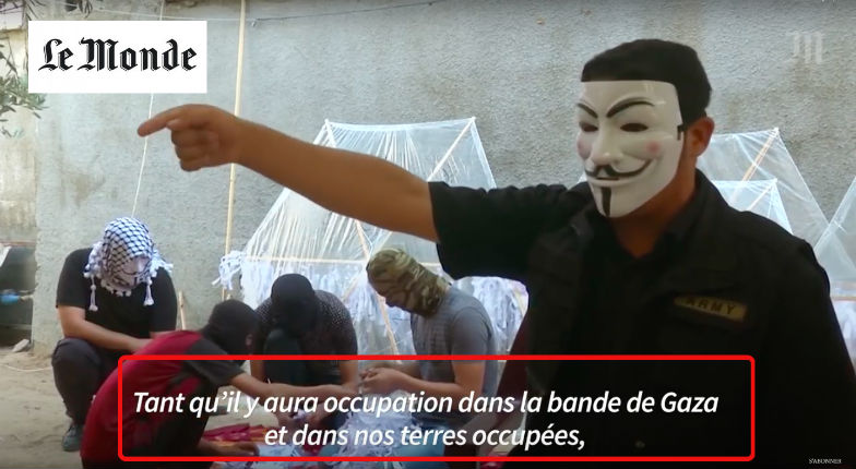 Le Monde champion des «fake news» : évoquant des Palestiniens luttant contre « l'occupation israélienne » de Gaza, terminée depuis 13 ans, pour expliquer le terrorisme