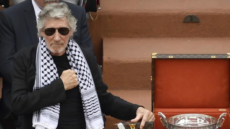 A Roland-Garros, l'antisémite notoire, Roger Waters, arborait son keffieh palestinien pour déverser sa haine d'Israël