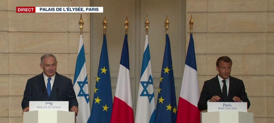 Rencontre avec Netanyahu: Macron «Dans le contexte actuel, nous n'avons pas la perspective de reconnaître officiellement la Palestine» (Vidéos)