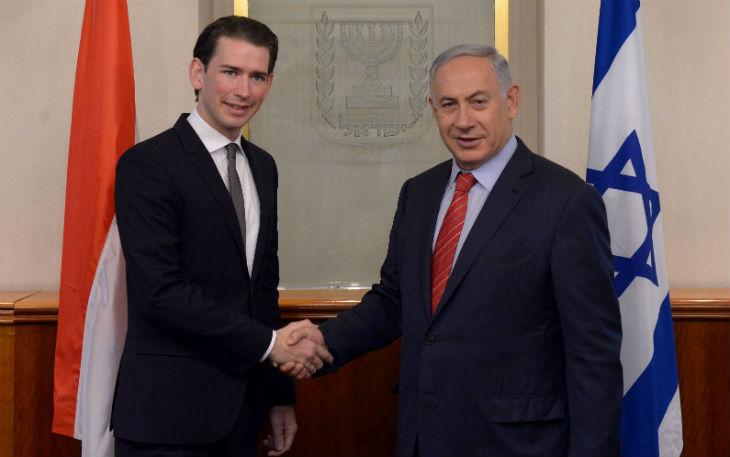 Le chancelier autrichien Sebastian Kurz en visite en Israël