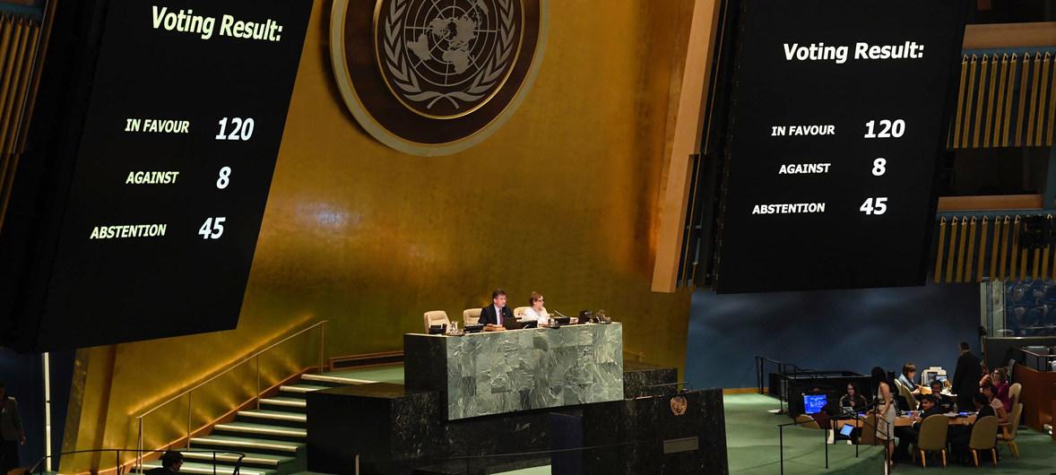 Assemblée générale à l'ONU : Tandis que les grands pays Européens s'abstiennent, la France soumise vote toujours comme les pays Arabes pour condamner Israël