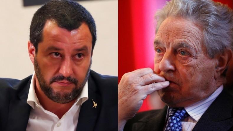 Salvini : Soros veut faire de l'Italie «un grand camp pour les réfugiés car il aime les esclaves»
