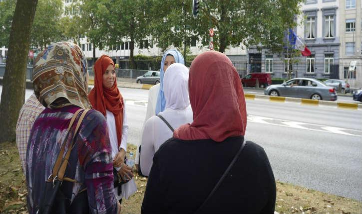 Bruxelles: manifestation en face du consulat de France pour la libération de Tariq Ramadan