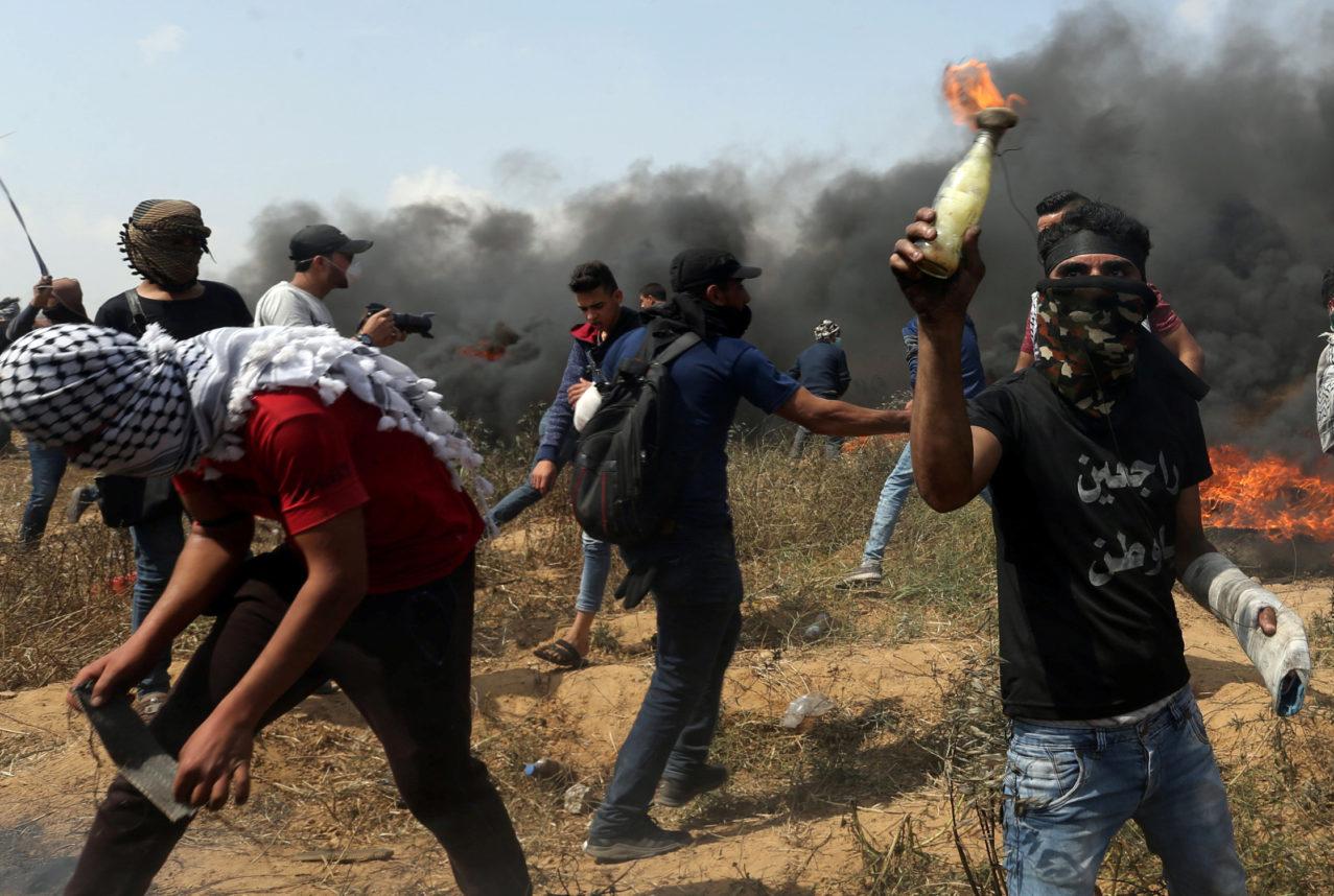 Gaza: un terroriste pyromane abattu, un blessé, un capturé et un en fuite