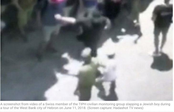 Un observateur anti-israélien expulsé après avoir giflé un enfant juif à Hébron