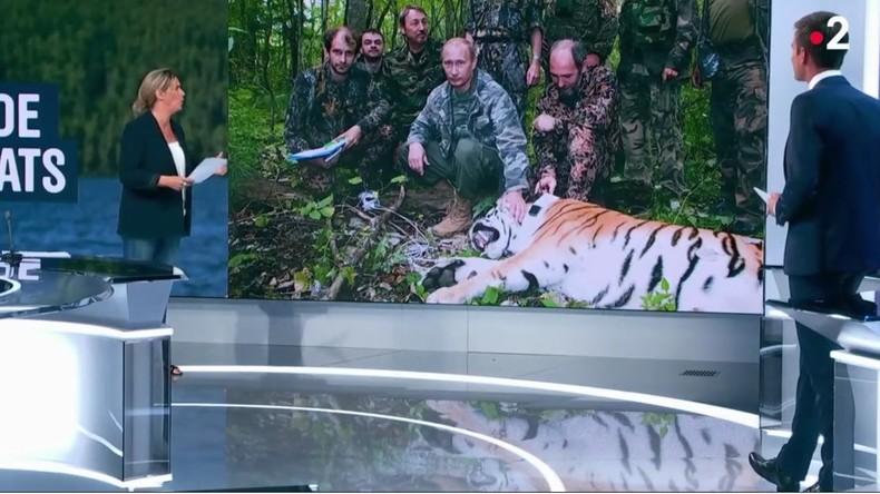 France 2 pris en flagrant délit de «fake news» en accusant à tort Vladimir Poutine de chasser le tigre (Vidéo)