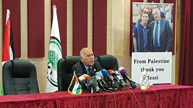 Le président de la fédération palestinienne suspendu de fonctions officielles pour un an par la Fifa pour incitation à la haine et à la violence