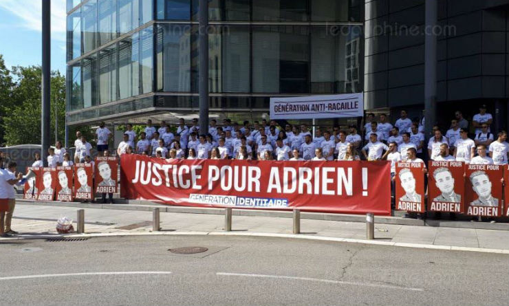 Grenoble : Manifestation de jeunes identitaires réclamant « Justice pour Adrien » (Vidéo)