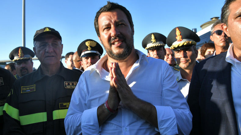 Salvini répond aux migrants du Diciotti en grève de la faim «5 millions de personnes pauvres font la grève de la faim tous les jours, dans le silence des journalistes et des bien-pensants»