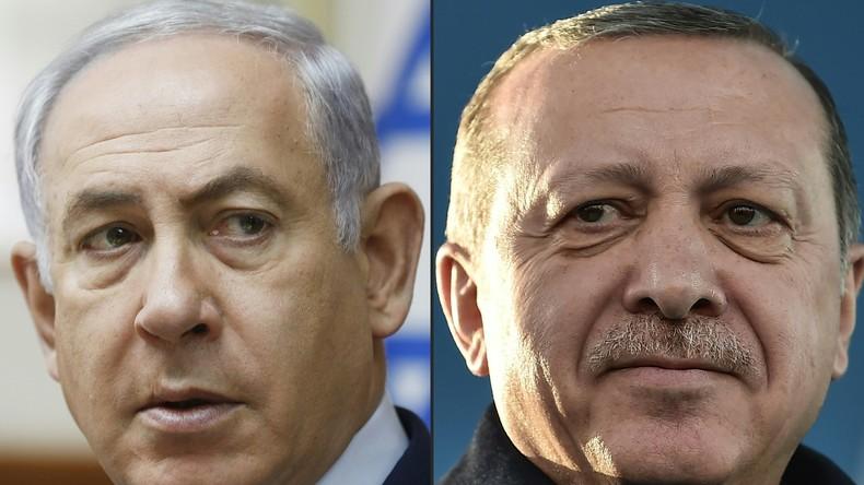 L'islamiste Erdogan insulte Israël, Netanyahou réplique en déclarant que la Turquie devenait «une sombre dictature»
