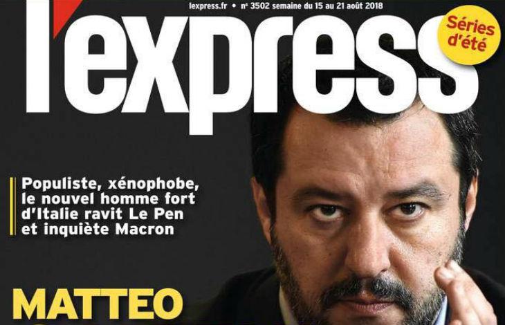 Italie : qualifié de xénophobe par L'Express, Matteo Salvini envoie des «bisous» aux «bien-pensants»