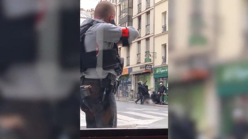 Paris : la vidéo impressionnante de l'arrestation d'un suspect djihadiste criant «Allah akbar» (Vidéo)