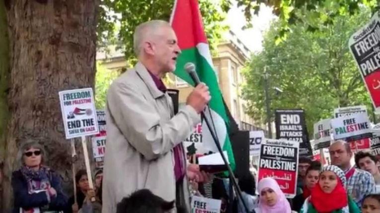 Une des pages Facebook de Jeremy Corbyn administrée par le groupe terroriste Hamas depuis Gaza