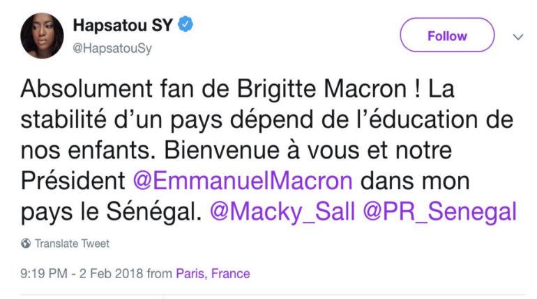 Hapsatou Sy vante « son beau pays » le Sénégal. Bernard Carayon, maire LR de Lavaur «si votre pays est le Sénégal, ce n' est pas la peine de jouer les victimes ou les procureurs de ce Français amoureux de la France qu' est Zemmour !»