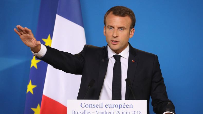 Macron menace les pays «qui ne veulent pas davantage d'Europe»