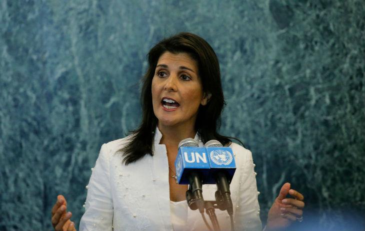 Pour Nikki Haley «le plan de paix de Trump pourrait être la dernière chance» des Palestiniens