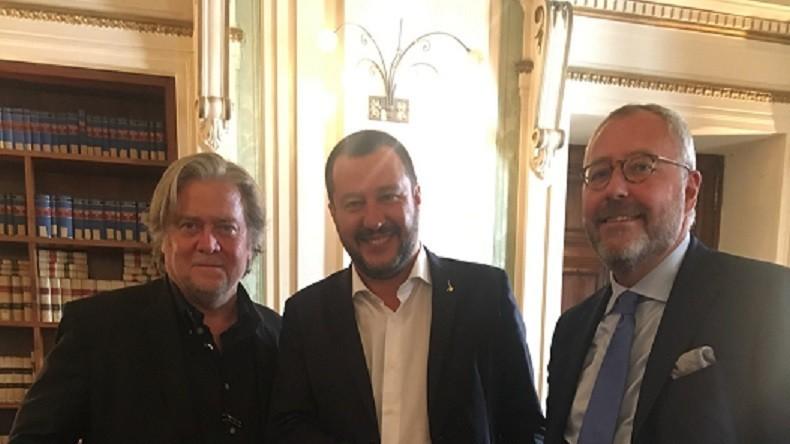 Steve Bannon et Matteo Salvini prêts à travailler ensemble pour «La dernière occasion de sauver l'Europe»