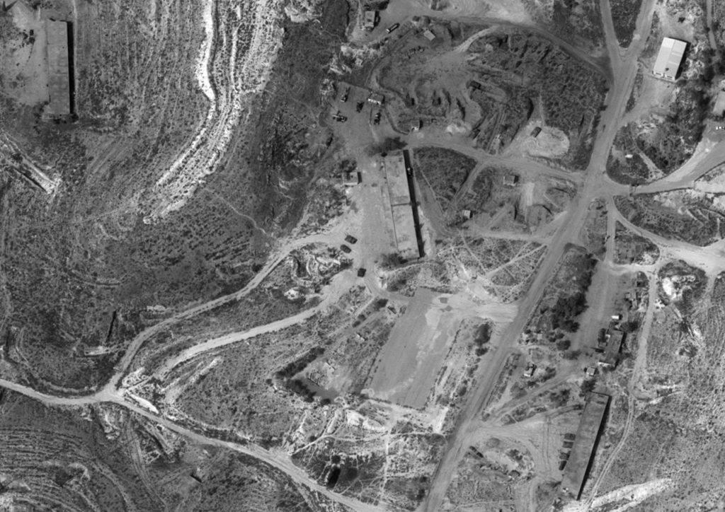 Une photo d'une base militaire syrienne prise par le satellite israélien Ofek 11, diffusé par le ministère de la Défense le 17 septembre 2018. (Ministère de la Défense)