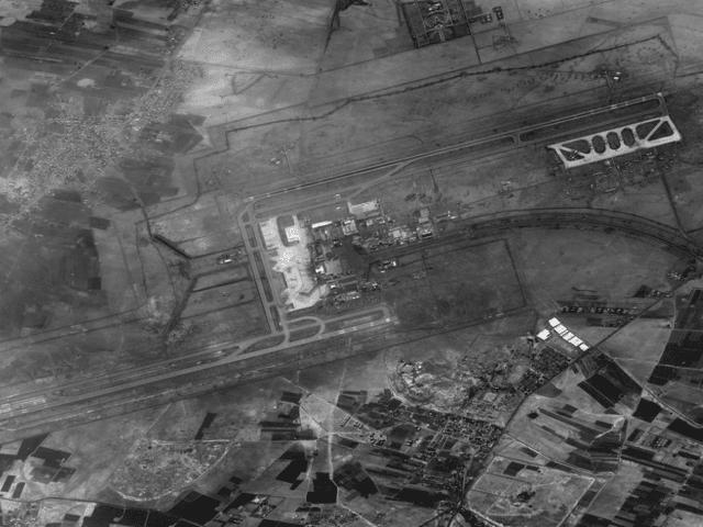 Une photo de l'aéroport international de Syrie à Damas prise par le satellite israélien Ofek 11, diffusé par le ministère de la Défense le 17 septembre 2018. (Ministère de la Défense)